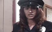 Lesbian police girl forced her prisoner to pee