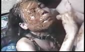 Asian slut deepthroated with poop on her face