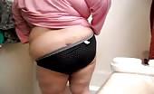 BBW pooping in her black panties