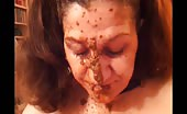Mature woman masturbating with scat and cucumber