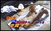 Beautiful Japanese smears shit on naked body