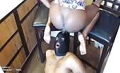Black girl pooping on her slave