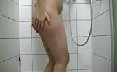 Squirt on bathroom wall