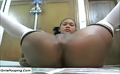 Ebony girl shitting