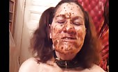 Mature woman getting covered with shit
