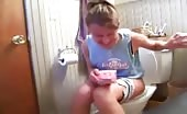 Trying to poop but she's constipated