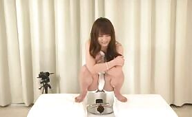 Japanese teen that's pooping on a plate