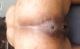 Brazilian babe shitting on her knees